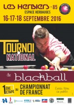 Tournoi national 1 blackball aux Herbiers