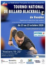 1er TOURNOI NATIONAL BLACKBALL DE LA SAISON 2020/2021