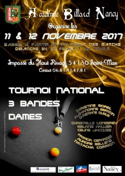 3-bandes Dames - Tournoi national 1 - Nancy