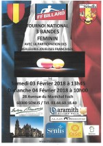3-BANDES DAMES : Tournoi national 2 à Senlis