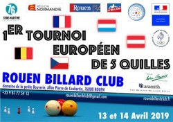 CARAMBOLE TOURNOI INTERNATIONAL 5 QUILLES À ROUEN