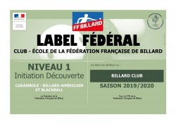 Label club école de la FFB 2019 2020