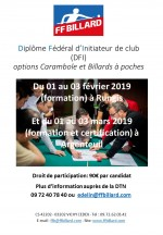 DIPLÔME FEDERAL D'INITIATEUR DE CLUB EN ILE DE FRANCE