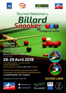 SNOOKER : tournoi national
