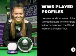 NOUVEAU SITE INTERNET POUR LE WORLD WOMEN'S SNOOKER