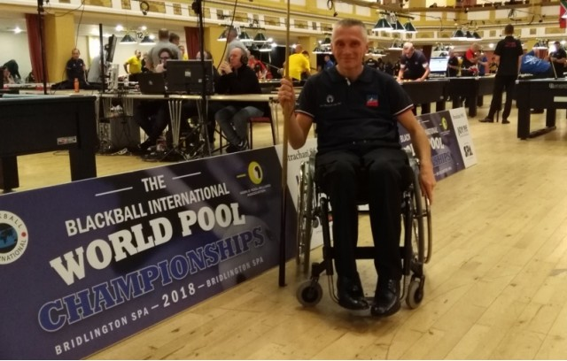 YVAN CARRIC VICE-CHAMPION DU MONDE AU BLACKBALL - HANDI-BILLARD